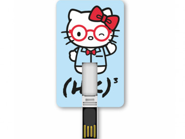 PENDRIVE ICONICCARD KITTY MATHEMATICS 8GB SILVER HT