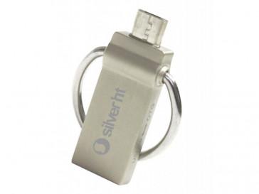 PENDRIVE NANOHOOP USB 3.0 OTG 16GB SILVER HT