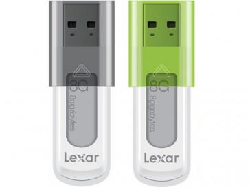 2-PACK JUMP DRIVE 8GB S50 LJDS50-8GBABEU2 LEXAR