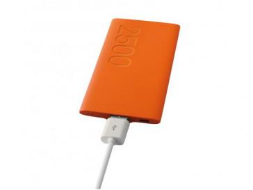 BATERIA AUXILIAR 2500MAH + MICRO CABLE USB-USB 20CM BXBA2500UNJ (OR) CONTACT