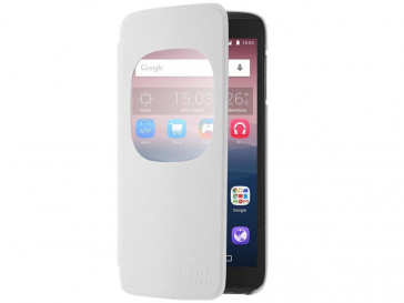 FUNDA FLIP COVER WINDOW IDOL 3 (5.5) BLANCO ALCATEL