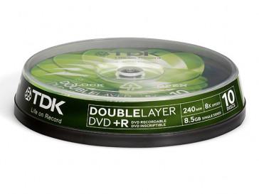 DVD+R 8.5GB 10 UD DOBLE CAPA TDK