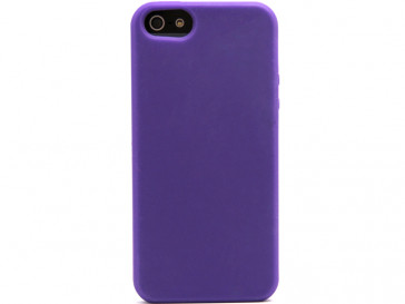 FUNDA SILICONA IPHONE 5 MORADO