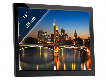 "DIGIFRAME 1581 HD 15"" NEGRO BRAUN PHOTOTECHNIK"