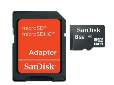 MICRO SDHC 8GB CON ADAPTADOR (SDSDQM-008G-B35A) SANDISK