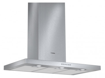 CAMPANA BOSCH DECORATIVA PARED 90CM INOX HALOGENA DWB097A52