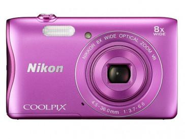 CAMARA NIKON COMPACTA COOLPIX S3700 ROSA + FUNDA + TARJETA SD 4GB