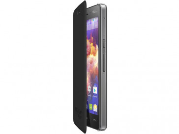 FUNDA CON TAPA HIGHWAY SINGS NEGRA 104632 WIKO