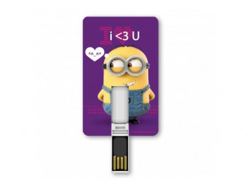 PENDRIVE ICONICCARD MINION LOVE 8GB SILVER HT