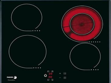 PLACA VITROCERAMICA FAGOR 2V-32 TS 59CM 4 ZONAS DE COCCION MARCO BISELADO