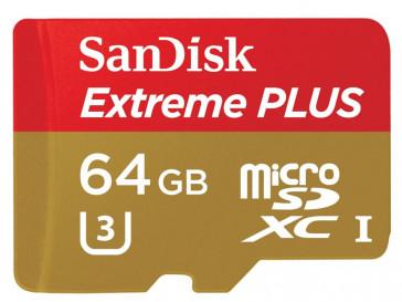 EXTREME PLUS MICRO SDXC 64GB + ADAPTADOR (SDSQXSG-064G-GN6MA) SANDISK