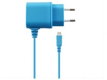 CARGADOR DIRECTO 1A MICRO USB AZUL KSIX