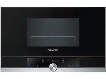 MICROONDAS INTEGRABLE SIEMENS 21L 900W NEGRO/INOX CON GRILL BE634RGS1