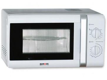 MICROONDAS LIBRE INSTALACION ROMMER 20L 700W BLANCO CON GRILL M-722