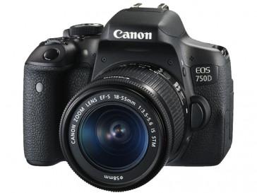 CAMARA REFLEX CANON EOS 750D + 18/55 IS STM + TARJETA SD 16GB + BOLSA 100EG