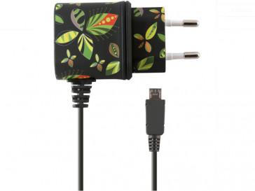 CARGADOR DIRECTO 1A MICRO USB FLORES NEGRO B1740CD02FN KSIX