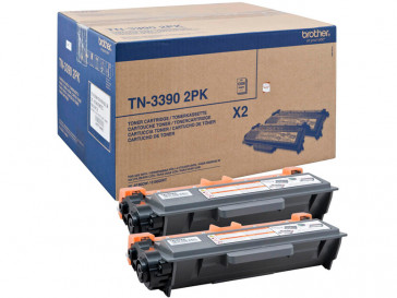 PACK 2 CARTUCHOS TONER NEGRO TN3390TWIN BROTHER