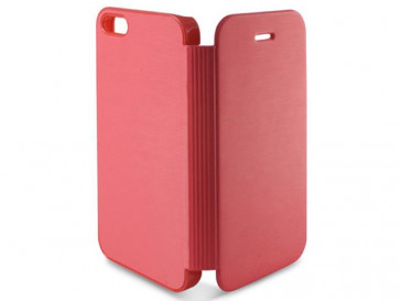 FUNDA FOLIO SLIM PARA IPHONE SE/5/S5 ROSA B0914FU81R KSIX