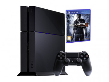 CONSOLA PS4 1TB + UNCHARTED 9802556 SONY