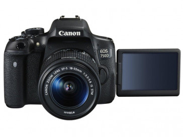 CAMARA REFLEX CANON 750D + 18/55 IS STM + 55/250 IS STM