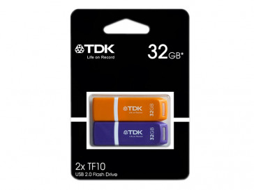 PACK 2 PEN DRIVE 32GB COLORES TDK