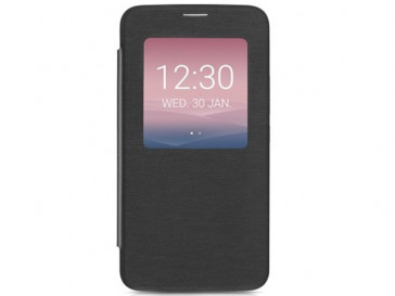 FUNDA FLIP COVER WINDOW IDOL 3 (4.7) GRIS ALCATEL