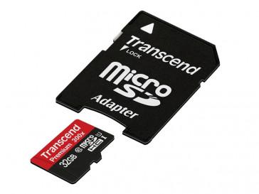 MICRO SDHC 32GB CLASE 10 TS32GUSDU3 + SD-ADAPTADOR TRANSCEND