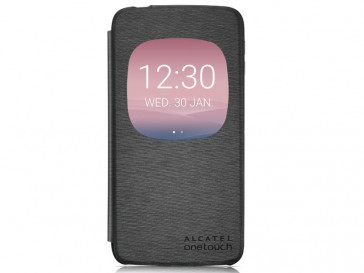 FUNDA FLIP COVER WINDOW IDOL 3 (5.5) GRIS ALCATEL