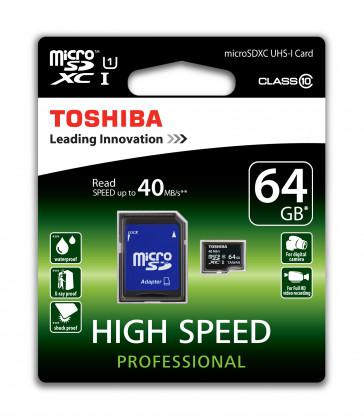 MICRO SDXC 64GB CLASE 10 (SD-C064UHS1(6A) TOSHIBA