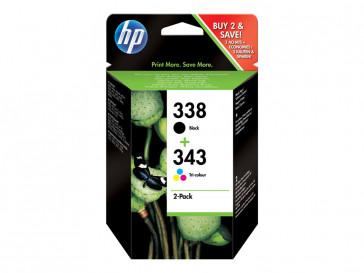 PACK 2 CARTUCHOS TINTA NEGRA/TRICOLOR (SD449EE) HP