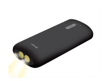 BATERIA AUXILIAR CON LINTERNA 4000 MAH + CABLE MICRO USB-USB 70CM NEGRA BXBA4000U KSIX