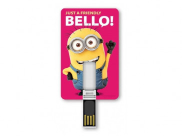 PENDRIVE ICONICCARD MINION FRIENDLY 8GB SILVER HT