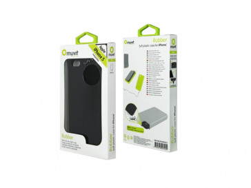 FUNDA SILICONA IPHONE 5 NEGRA