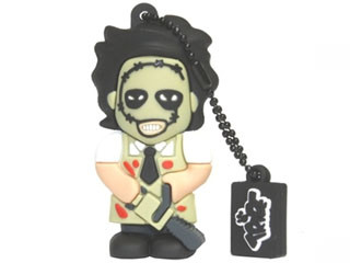 PENDRIVE 8GB TOONSTAR HORROR LEATHER SILVER HT