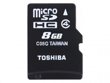 MICRO SDHC 8GB CLASE 4 + ADAPTADOR (THN-M102K0080M2) TOSHIBA