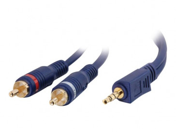 CABLE 3M 3.5MM STEREO TO 2 RCA 80275 C2G