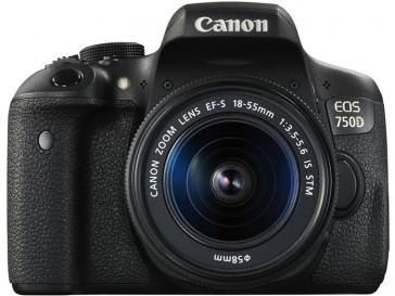 CAMARA REFLEX CANON EOS 750D + 18/55 IS STM + BATERIA LP-E17