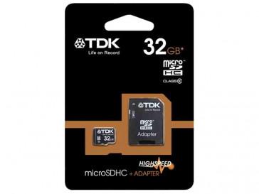 MICRO SDHC 32GB CLASE 10 ELITE PRO + ADAPTADOR TDK