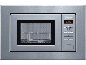MICROONDAS INTEGRABLE BALAY 18L 800W ACERO CON GRILL 3WGX1929P
