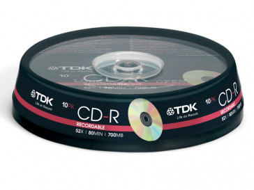 CD-R80 52X 700MB 10 UD TDK