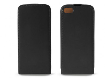 FUNDA PIEL VERTICAL CON TAPA PARA IPHONE 5 CONTACT