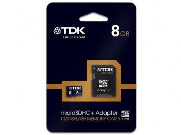 MICRO SDHC 8GB CLASE 4 + ADAPTADOR TDK