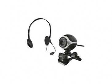 WEBCAM+AURICULARES EXIS CHATPACK 17028 TRUST