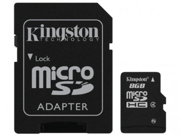 MICRO SDHC 8GB CLASE 4 + ADAPTADOR (SDC4/8GB) KINGSTON