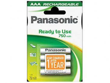 PACK 4 PILAS RECARGABLES P064E AA PANASONIC