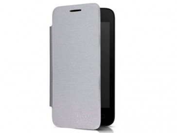 "FUNDA FLIP COVER PIXI 3 4"" PLATA ALCATEL"