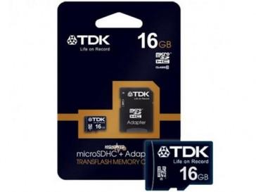 MICRO SDHC 16GB CLASE 4 + ADAPTADOR TDK