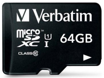 MICRO SDXC 64GB CLASE 10 44014 VERBATIM