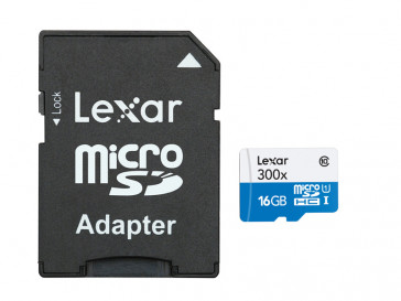 MICRO SDHC 16GB CLASE 10 + ADAPTADOR LSDMI16GBBEU300 LEXAR