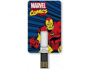 PENDRIVE ICONICCARD IRON MAN 8GB SILVER HT